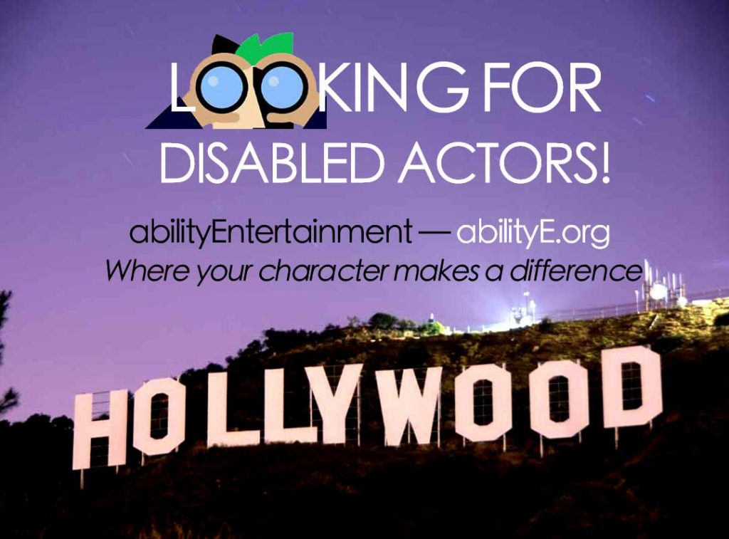 Looking for disabled actors