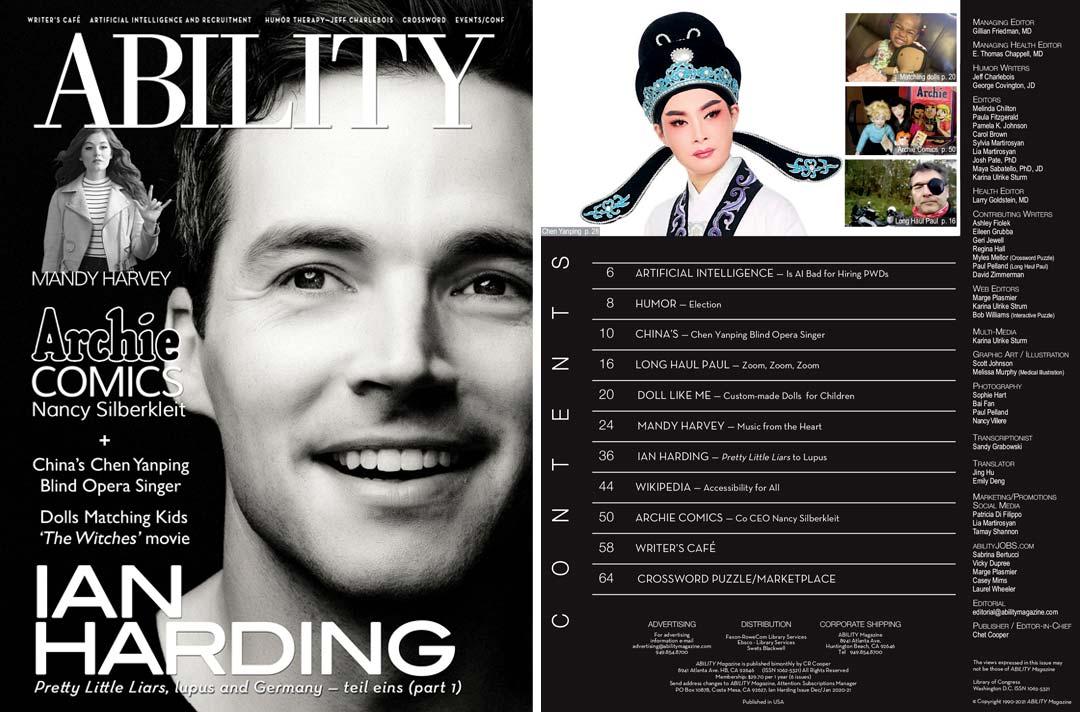 ABILITY Magazine Ian Harding Issue