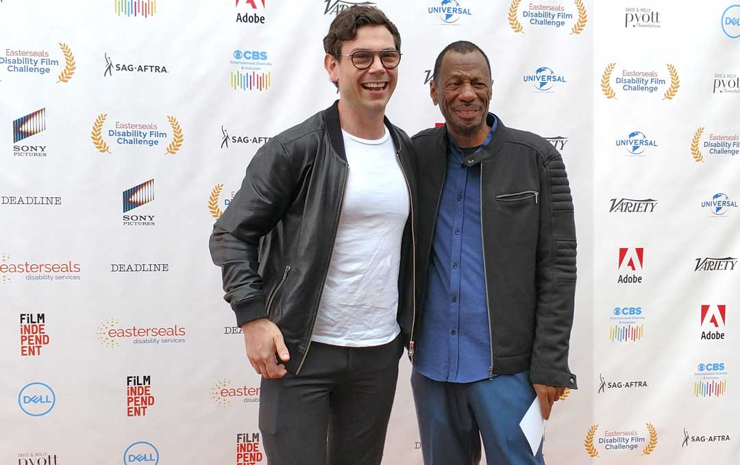 Ryan O'Connell and CJ Jones at the Easterseals Disability Film Challenge