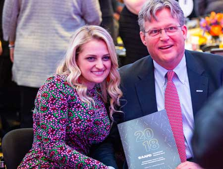 Ali Stroker and Ted Kennedy Jr. at the 2018 AAPD Gala