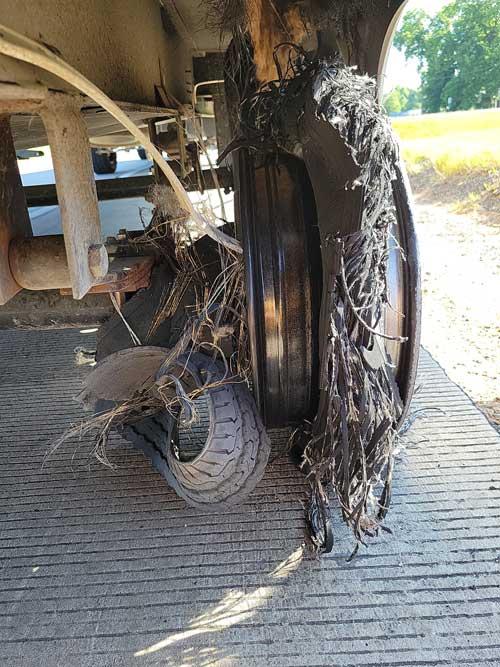 Shredded tire