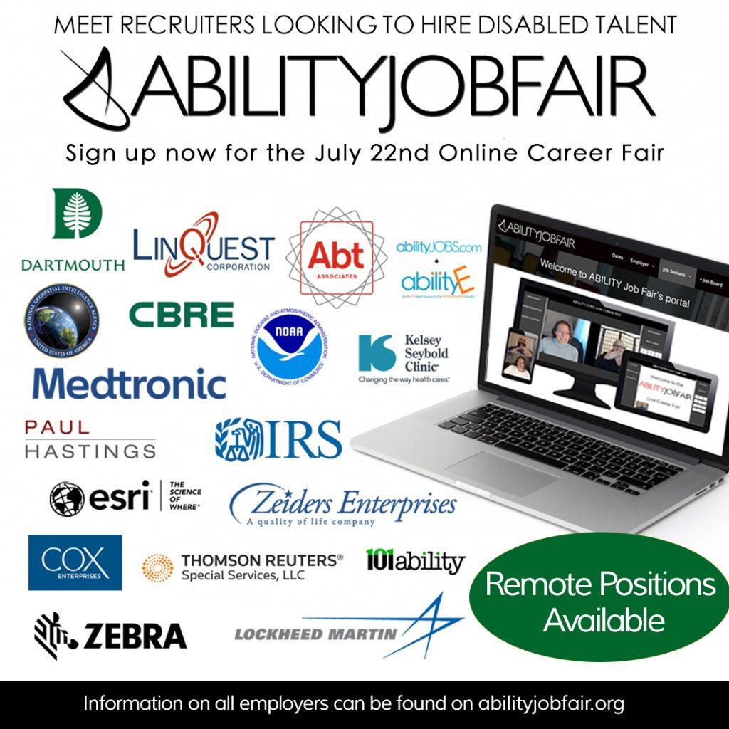 ABILITY Job Fair — job seekers with disabilities